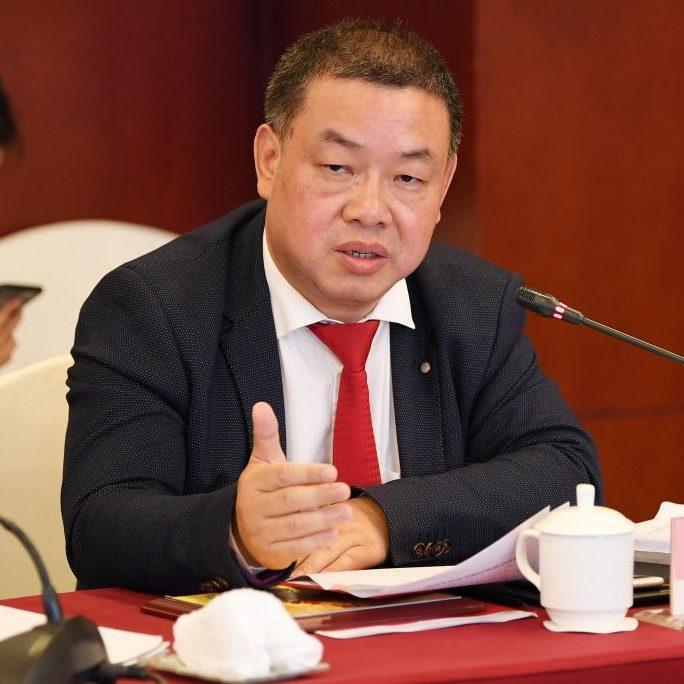 ABC World CEO, Richard Yuan, addresses an audience at a international business conference in Changsha, Hunan (10/2017)