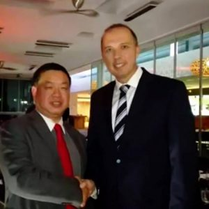 Richard Yuan and The Honorary Peter Dutton MP, Australia Minister for Immigration and Border Protection